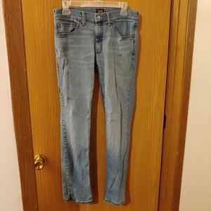 Like New Lee classic fit jeans light rinse 30